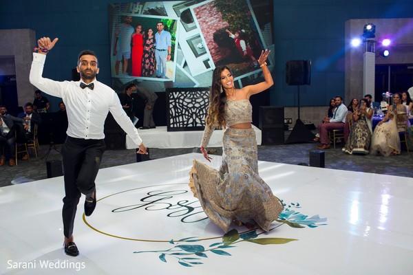 Maharani and Raja at reception choreography.