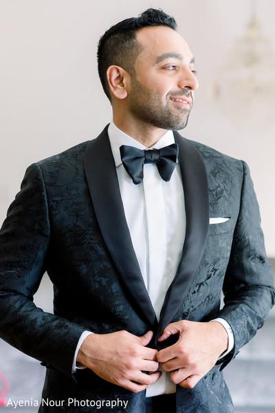 Indian groom in his wedding attire