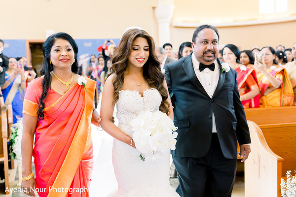 Maharani walking down the aisle.