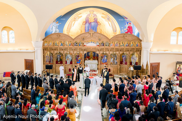 Indian Christian wedding ceremony venue.