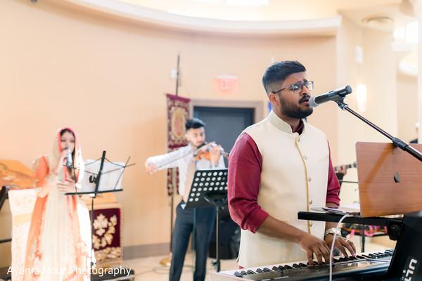 Indian Christian wedding live music.