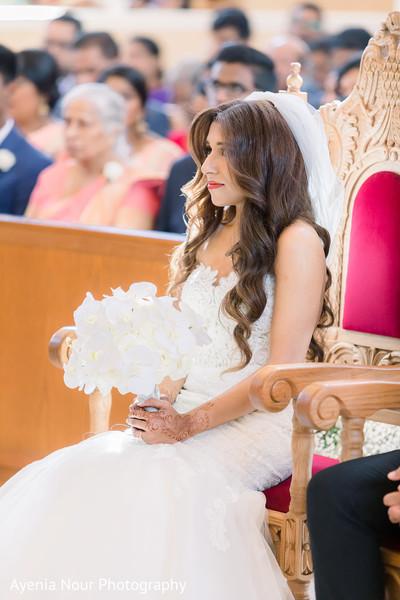 Maharani on her white wedding dress.