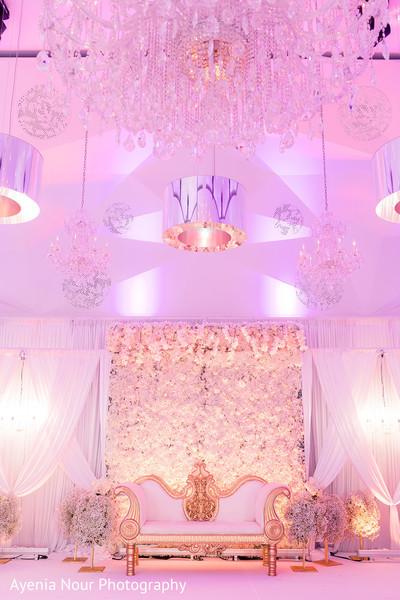 Indian wedding rfeception stage decoration.