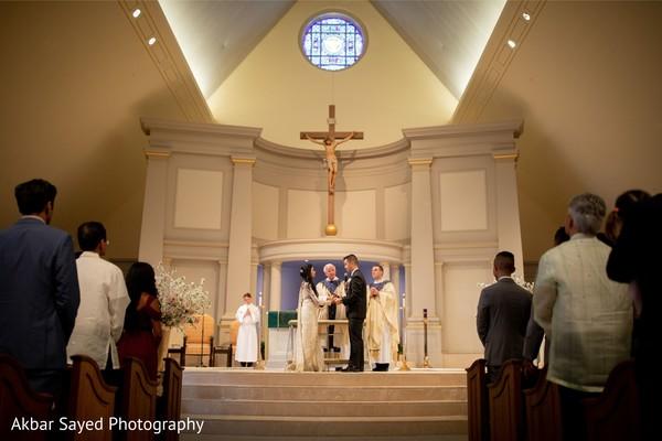Indian wedding Christian ceremony photo.