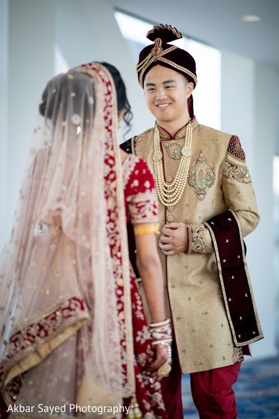 Indian couple first look capture.