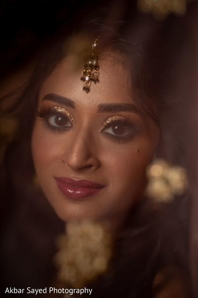Indian bridal flawless wedding makeup.