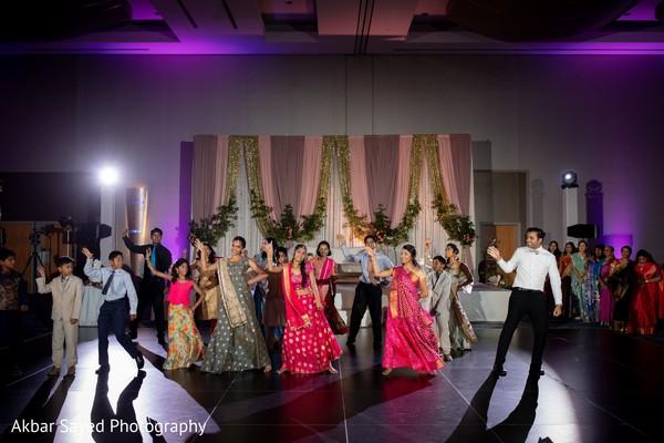 Indian wedding reception dance choreography capture.