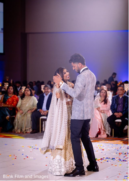 Indian newlyweds' first dance