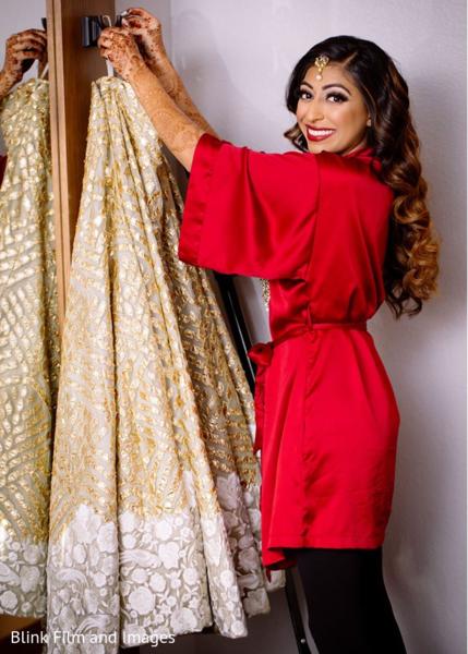 Maharani getting her lengha skirt