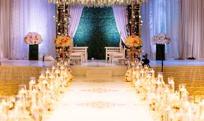 A picture of the decorated stage