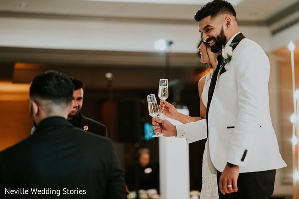 Raja and Maharani having a toast.