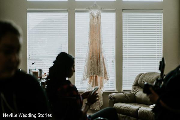 Indian bride Christian wedding dress.