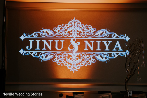 Personalized Indian wedding lights sign.