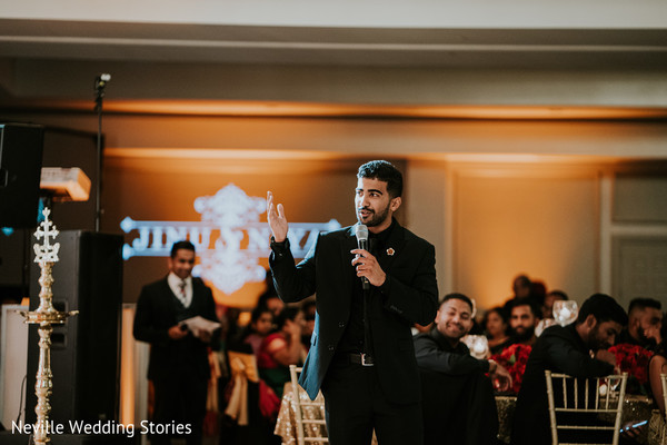 Indian groomsmen reception speech.