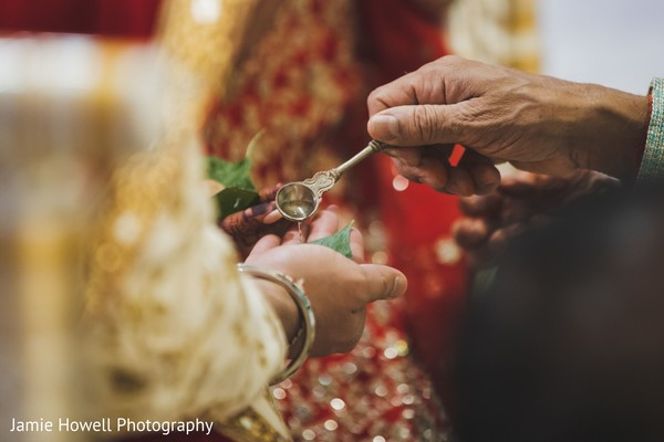 A rite during the wedding ceremony