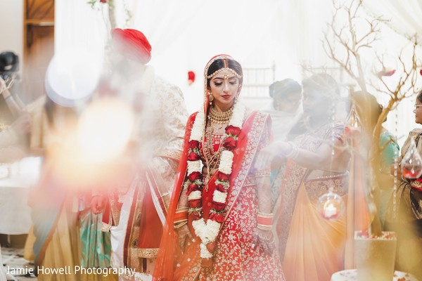 A take of the Indian bride during the cremony