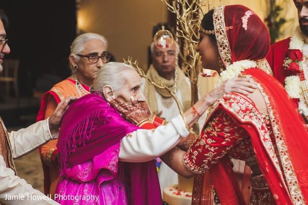 Maharani bidding her farewells to her Indian relatives