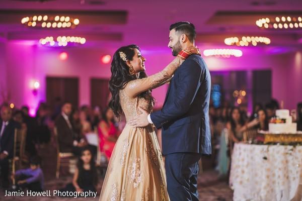 Indian newlyweds first waltz