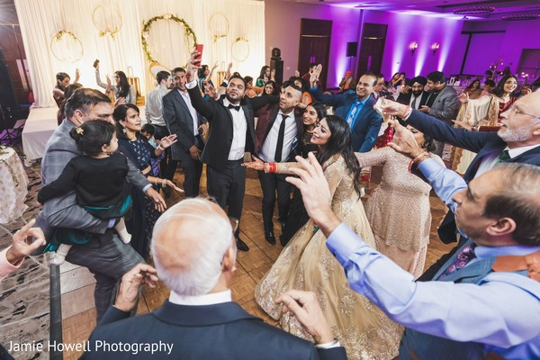 Indian family on the dance-floor