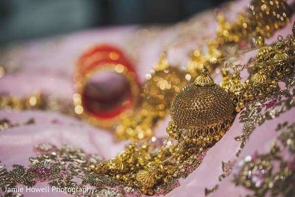 A close up to the jewelry to be used by Maharani