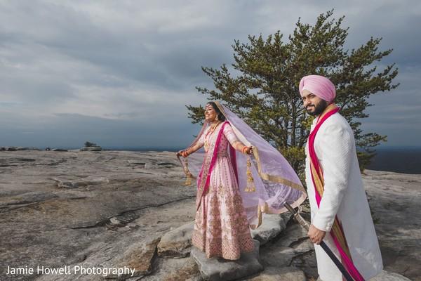 Indian couple enjoying the winds