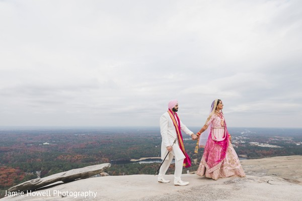 Indian couple walking hand in hand
