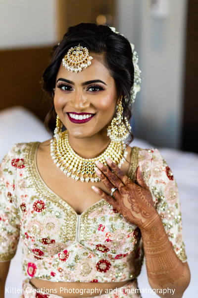 Maharani smiling and ready for her wedding.