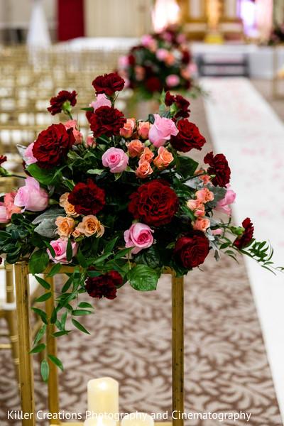 floral decor used in hindu wedding.