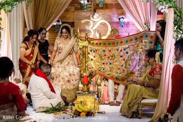 Indian groom behind the veil.