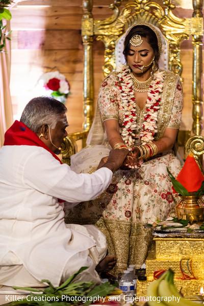 Maharani and the wedding priest.