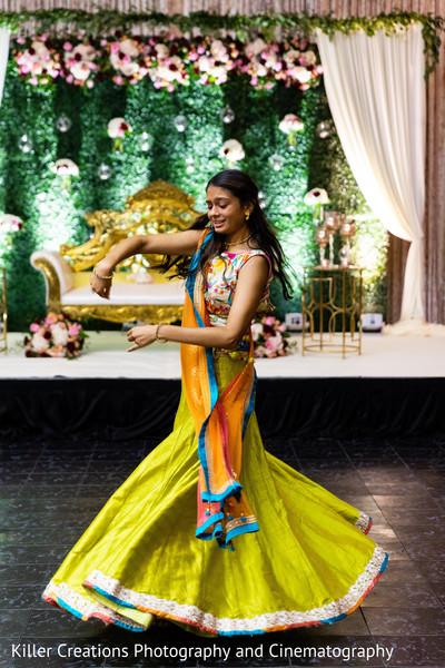 Maharani dancing during her sangeet.