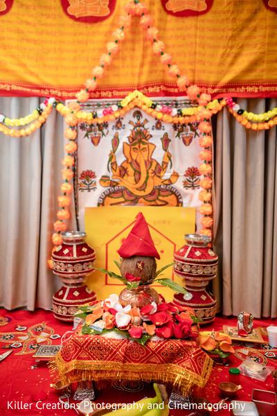 Indian decoration with hindu deity.