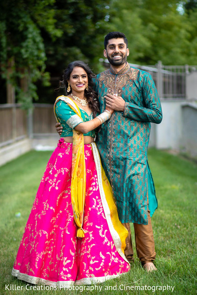 Indian couple outdoors photo shoot.
