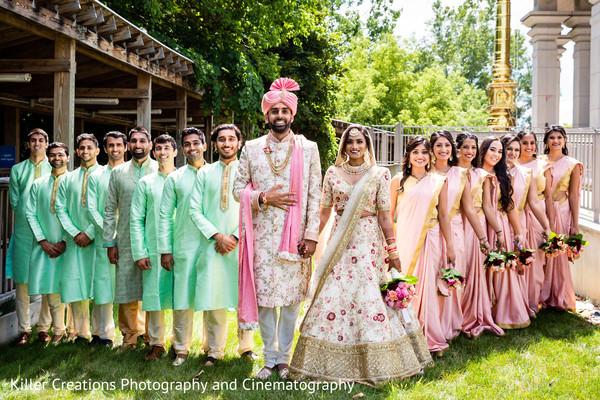 Maharani and Raja with their parties.