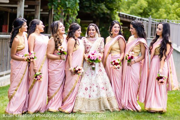 Maharani and her bridesmaids.