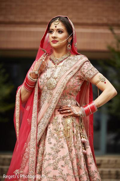 Maharani displaying her lengha.