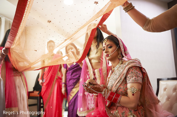 Maharani preparing for her hindu wedding.