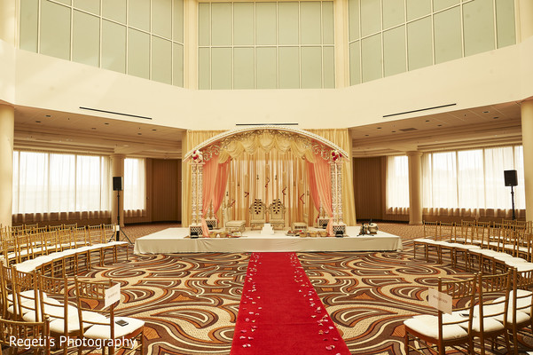 Venue decorated and arranged for the hindu wedding.