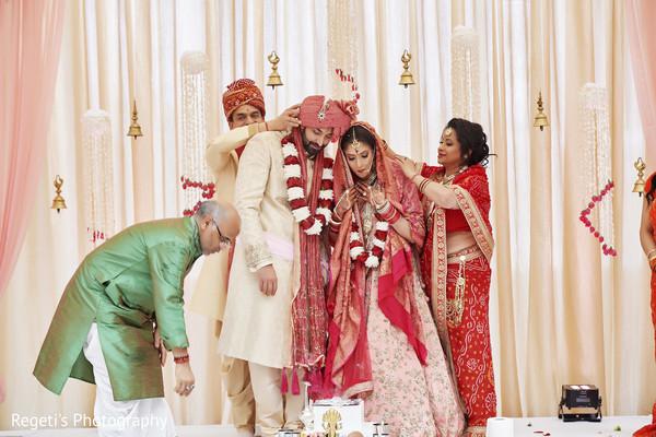 Maharani and Raja during hindu wedding ritual.
