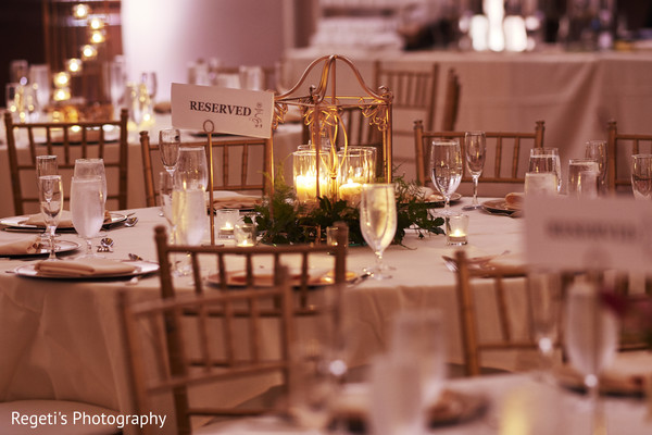 Table decorated and ready for the guests.