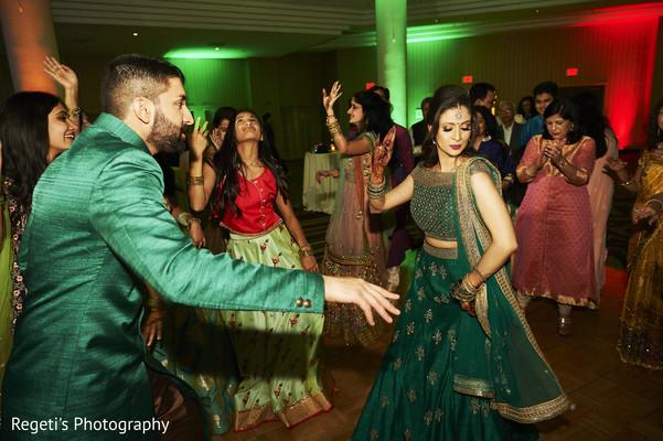 Maharani and Raja dancing during the Sangeet.