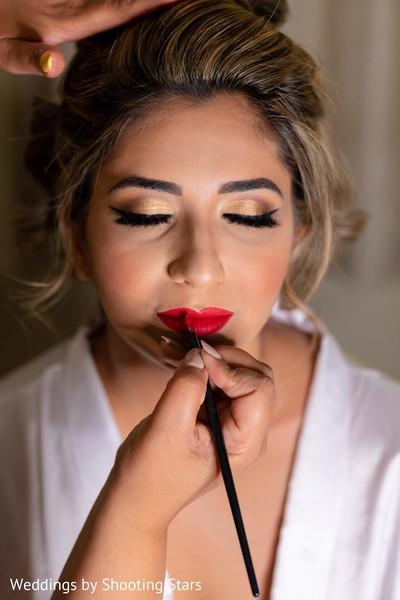 Make up artist workin on Maharani
