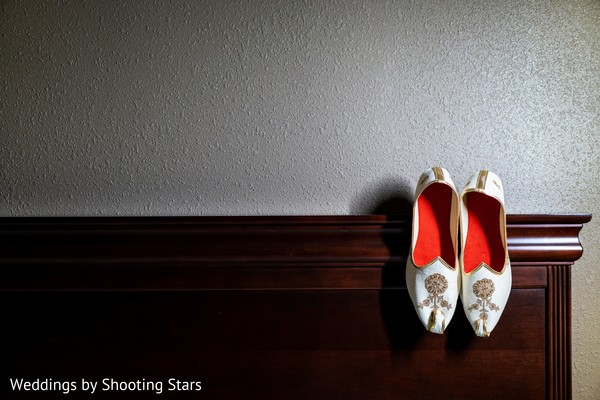 Shoes to be used by the Indian groom
