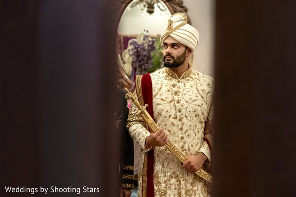 Indian groom ready for the ceremony