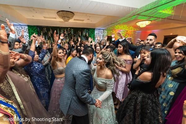 Indian couple on the dance-floor