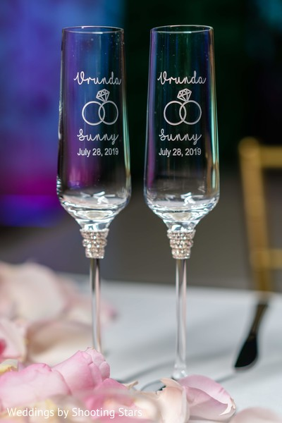 The special glasses for the Indian couple