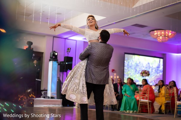 Indian newlyweds performing a choreography