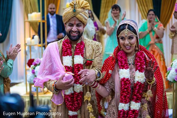 Maharani and bridegroom at wedding venue