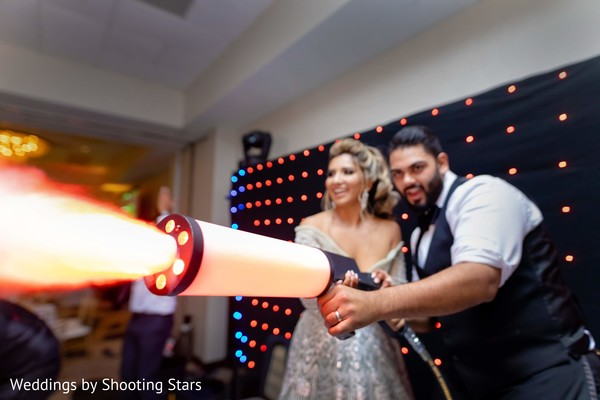 Indian groom shooting to the dancefloor