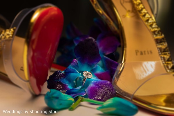 The shoes to be used by the Indian bride